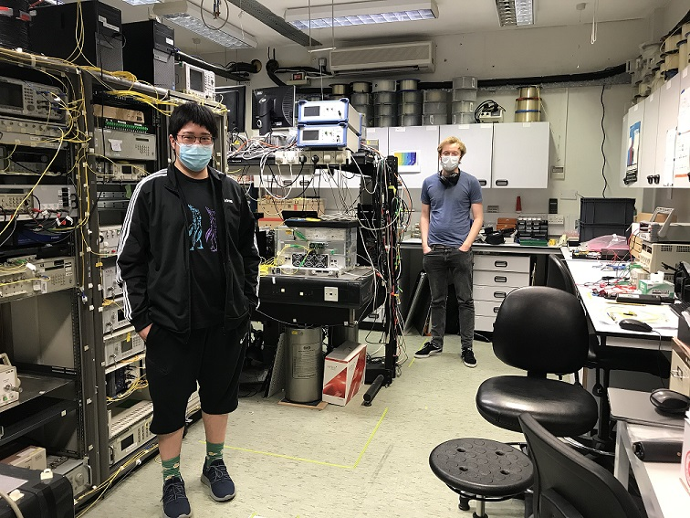 members of ONG return to the lab following lockdown